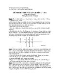 Đề thi Olympic vật lý chuyên 11 - 2011