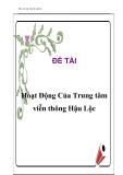 Báo cáo thực tập: Hoạt động của trung tâm viễn thông Hậu Lộc
