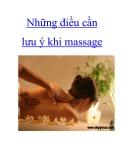 Những điều cần lưu ý khi massage