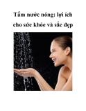 Tắm nước nóng: lợi ích cho sức khỏe và sắc đẹp