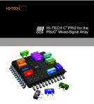 HI-TECH C PRO cho các mảng tín hiệu hỗn hợp-PSoC