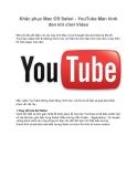 Khắc phục Mac OS Safari - YouTube Màn hình đen khi chơi Video