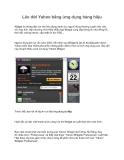 Lên đời Yahoo bằng ứng dụng hàng hiệu