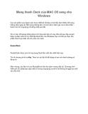 Mang thanh Dock của MAC OS sang cho Windows