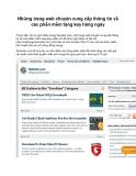 Những trang web chuyên cung cấp thông tin về các phần mềm tặng key hàng