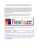 Tạo danh sách email tiện lợi bằng Fiesta.CC