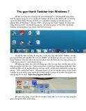 Thu gọn thanh Taskbar trên Windows 7