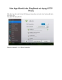 Vào App World trên PlayBook sử dụng HTTP Proxy