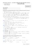 Đáp án và đề thi tốt nghiệp trung học phổ thông năm 2011 môn Tiếng Nhật - Mã đề 935