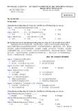 Đáp án và đề thi tốt nghiệp trung học phổ thông năm 2011 môn Tiếng Trung - Mã đề 143