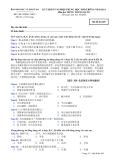 Đáp án và đề thi tốt nghiệp trung học phổ thông năm 2011 môn Tiếng Trung - Mã đề 485