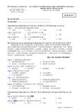 Đáp án và đề thi tốt nghiệp trung học phổ thông năm 2011 môn Tiếng Trung - Mã đề 573