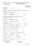Đáp án và đề thi tốt nghiệp trung học phổ thông năm 2011 môn Tiếng Trung - Mã đề 864