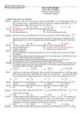 Đề thi thử đại học khối A môn vật lý lần thứ 3