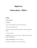 Bệnh Lao Tuberculosis – Phần 1