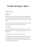 Tai biến LM-TppM – Phần 1