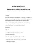 Phân ly điện cơ Electromechanial dissociation