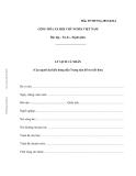 MẪU LÝ LỊCH CÁ NHÂN (Của người dự kiến đứng đầu Trung tâm hỗ trợ kết hôn)