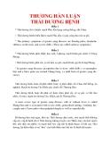 Y hoc cổ truyền - Thương hàn luận part 1