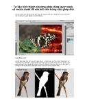 Tư liệu hình thành phương pháp dùng layer mask và vector mask để xóa ảnh nền trong việc ghép ảnh p1
