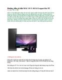 Hướng dẫn cài đặt MAC OS X 10.5.6 Leopard for PC