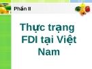 Thực trạng FDI tại Việt Nam