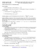Đề khảo sát chất lượng Toán 12 (Kèm đáp án)