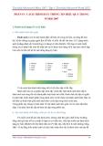GIÁO TRÌNH Word 2007 -  Tìm hiểu Microsoft Office 2007 phần 3