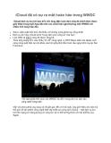 iCloud đã có sự ra mắt hoàn hảo trong WWDC