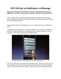 iOS 5 Nổi bật với Notification và iMessage