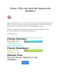 Kisses - Phần mềm phát hiện Spyware trên BlackBerry