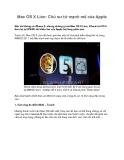 Mac OS X Lion: Chú sư tử mạnh mẽ của Apple