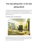 Tản mạn phong thủy và sắc màu phòng khách