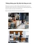 Những không gian bếp hiện đại đáng mơ ước