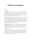 Ngộ độc Acetaminophen