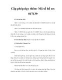 Cấp phép dạy thêm- Mã số hồ sơ: 017139