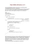 Thực thi lệnh với Database và C#