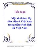 Tiểu luận: Một số thành lũy tiêu biểu ở Việt Nam trong tiến trình lịch sử Việt Nam