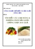 Tiểu luận: Tìm hiểu các loại màng và phương pháp bảo quản lương thực rau quả
