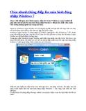 Chèn nhanh thông điệp lên màn hình đăng nhập Windows 7