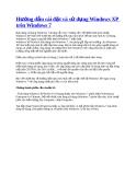 Hướng dẫn cài đặt và sử dụng Windows XP trên Windows 7