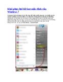 Khôi phục lại bộ font mặc định của Windows 7