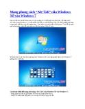 Mang phong cách Alt+Tab của Windows XP vào Windows 7