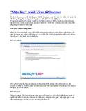 Mẹo hay tránh Virus từ Internet
