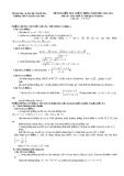 Đề kiểm tra chất lượng môn toán khối A trường THPT chuyên Lam Sơn