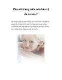 Phụ nữ trung niên nên bảo vệ da ra sao ?