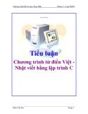 Tiểu luận:  Chương trình từ điển Việt - Nhật viết bằng lập trình C