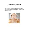 7 bước làm sạch da