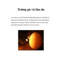 Trứng gà và làn da