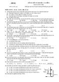 Đề thi thử đại học, cao đẳng môn hóa học - Đề số 001